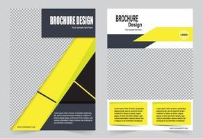 modello di brochure copertina gialla astratta vettore