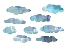 Vector Acquerello Cloud Elements