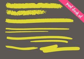 Set vettoriale di vernice Streak - colorato