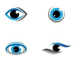 set logo occhio blu vettore