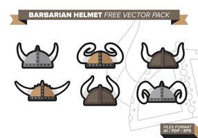 Pacchetto di vettore gratuito casco barbaro