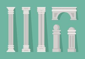 vettore romano pilastro