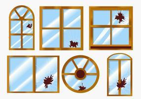 vettore finestre rotte