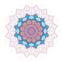 disegno mandala cerchio rosa, viola, blu