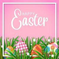 poster di Pasqua con uova decorate