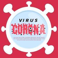 poster a tema corona virus o coronavirus vettore
