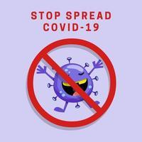 poster di pandemia di coronavirus