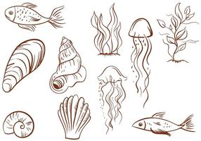 Vettori Vintage Sealife gratuiti