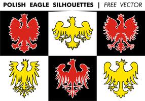 Vettore libero delle siluette di Eagle del polacco