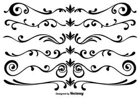 Elementi di Vector Scrollwork