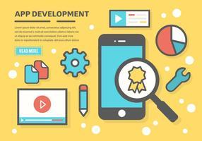 Sfondo vettoriale di sviluppo App gratuito