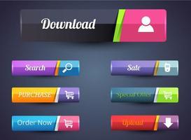 Vettori di barra dei pulsanti Web gratuiti