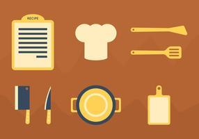 Scheda grafica di ricette vettoriali gratis 1