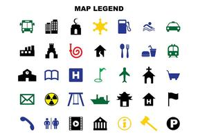 Mappa vettoriale di leggenda