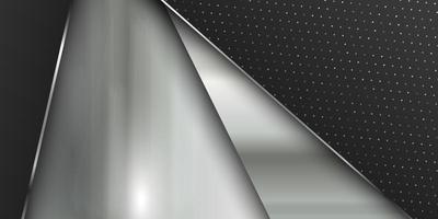 modello della bandiera con struttura in metallo spazzolato vettore