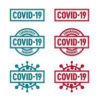 badge covid-19 pieni e stampati