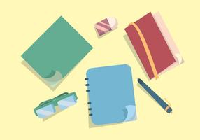 Pagina Notebook Flip Vector Set