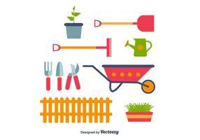 Vettore delle icone di giardinaggio