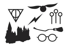 Elementi di strega e mago vettore