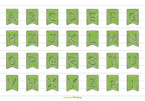 Insieme di alfabeto di stile disegnato a mano sveglio vettore
