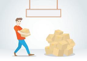 Illustrazione di consegna del tabellone per le affissioni di accaparramento