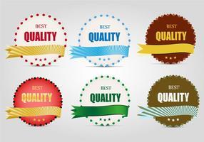 Vettore gratuito di etichette di qualità