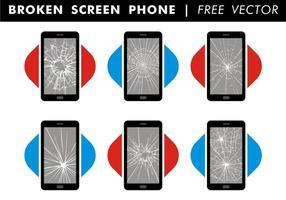 Vettore libero del telefono rotto dello schermo