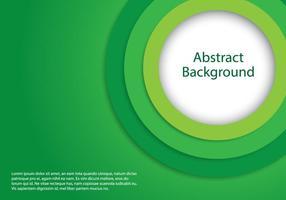 Sfondo verde cerchio vettore