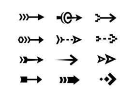 collezione di design piatto icone freccia vettore