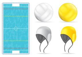 Piscina e articoli per la pallanuoto vettore