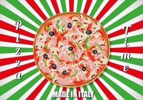Pizza Concept Vector gratuito