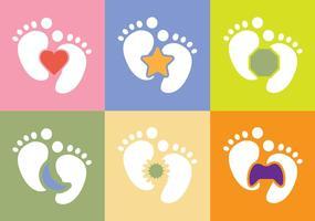 Vettore gratuito del piede del bambino