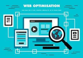 Sfondo vettoriale gratuito di ottimizzazione web