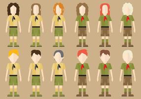 Personaggi di Boy Scout vettore