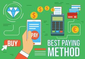 Metodo di pagamento vettoriale