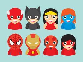 Vettori di supereroi per bambini