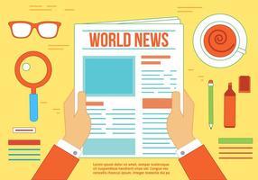 Vettore di notizie gratis