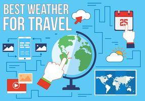 Icone vettoriali di viaggio