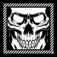 disegno a mano faccia scheletro