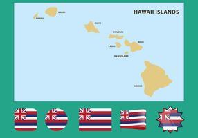 Mappa delle Hawaii vettore