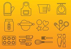 Icone della linea di prodotti da forno