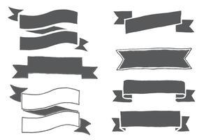 Forme di nastro disegnate a mano vettore
