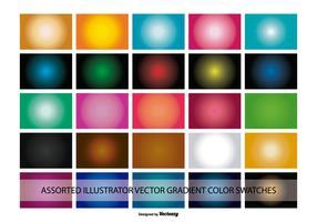 Campioni di colore gradiente di Illustrator vettore