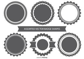 Set di forme di badge vettoriale