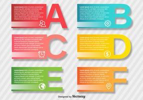 Elementi di vettore di presentazione di infografica