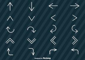 Insieme di vettore delle icone delle frecce di stile della linea