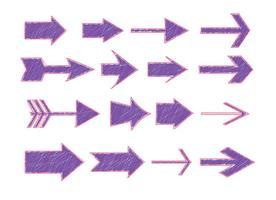 Frecce di stile penna pennarello abbozzato