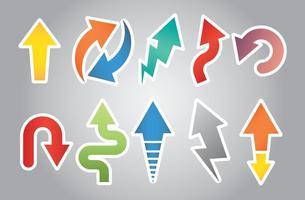 Flechas icone vettoriali