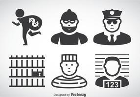 Vettore di icone criminali