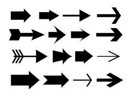 Set di frecce vettoriali assortiti